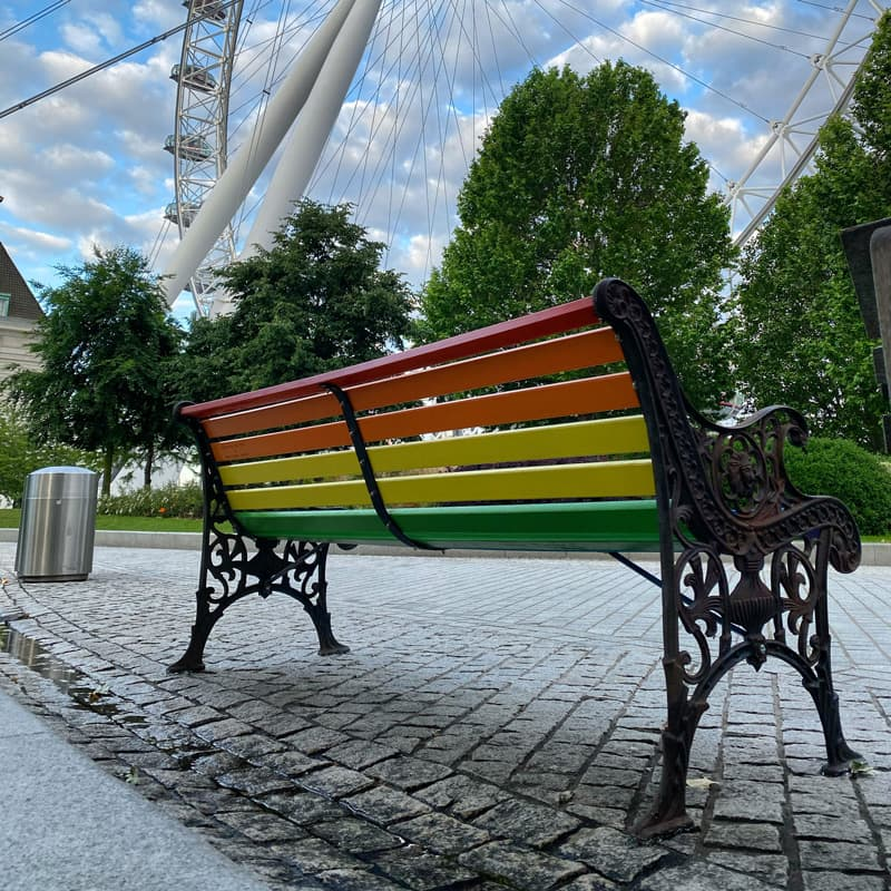 Paul Insect rainbow bench